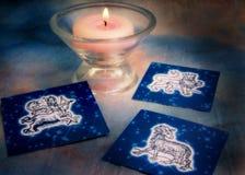 De brandtekens van de astrologie Royalty-vrije Stock Afbeeldingen