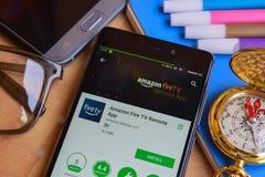 De Brandtv Verre App dev app van Amazonië op Smartphone-het scherm royalty-vrije stock foto