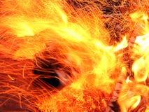 De brandvlammen Stock Afbeelding