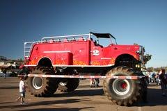De brandvrachtwagen van het monster stock foto