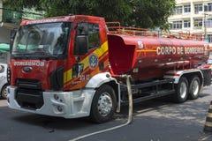De brandvrachtwagen van Manaus op de scène Royalty-vrije Stock Foto