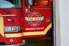 De Brandvrachtwagen van Seattle Stock Foto