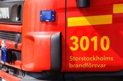 De brandvrachtwagen van Stockholm Stock Afbeelding