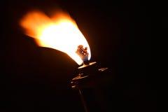 De brandwond van de de vlambrand van de toorts royalty-vrije stock afbeelding
