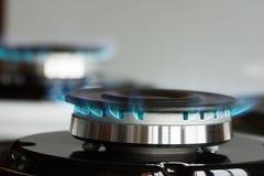 De Brandwond van het propaangasfornuis op Fornuis stock foto's