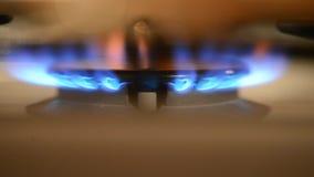 De brandwonden van de gasbrand stock videobeelden