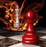 De brandwonden van de schaakkoning. Grafisch concept. Royalty-vrije Stock Fotografie