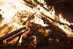 De brandwonden van het brandvuur Stock Foto