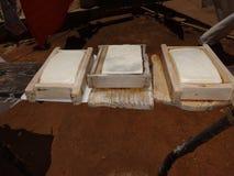 De Braziliaanse Backwood-productie van de Landbouwbedrijfkaas stock afbeeldingen