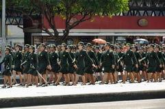 De Braziliaanse Parade van de Onafhankelijkheidsdag Royalty-vrije Stock Afbeelding