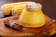 De Braziliaanse zoete cake van het dessertgraan Royalty-vrije Stock Foto's