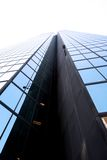 De brede hoek van de wolkenkrabber Stock Foto's