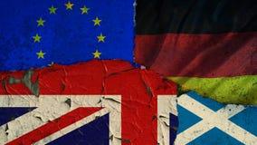 De Brexiteu negotiatons Stock Afbeeldingen