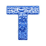 De brief & het waterdalingen van het metaal - brief T Royalty-vrije Stock Foto