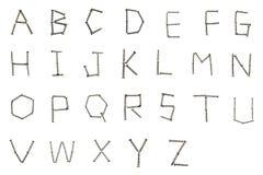 De brief die van schroef wordt gemaakt Stock Afbeeldingen
