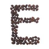 De brief e van de koffie Stock Fotografie