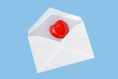 De brief en de harten van de liefde royalty-vrije stock afbeeldingen