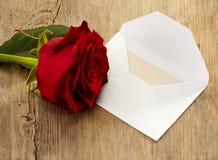De brief en nam toe Royalty-vrije Stock Afbeeldingen
