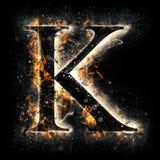 De brief K van de brand Royalty-vrije Illustratie