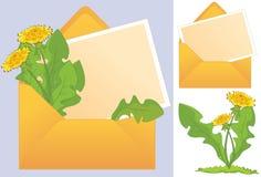De brief met een bloem Royalty-vrije Stock Afbeeldingen