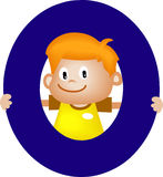 De brief O van het alfabet (jongen) Royalty-vrije Stock Afbeeldingen