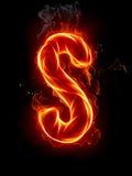 De brief S van de brand Stock Afbeelding
