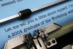De brief van de baanaanbieding Stock Foto's