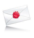 De brief van de Dag van de valentijnskaart Stock Afbeeldingen