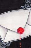 De brief van de dood Stock Afbeeldingen