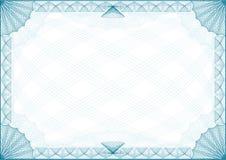 De Brief van de Grens van het certificaat Stock Foto