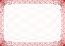 De Brief van de Grens van het certificaat Stock Afbeeldingen
