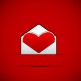 De Brief van de liefde Stock Foto's