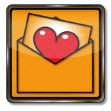 De brief van de liefde Stock Afbeelding