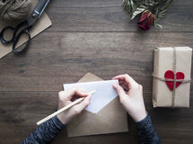 De brief van de liefde Royalty-vrije Stock Fotografie