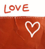 De brief van de liefde - achtergrond Stock Foto's