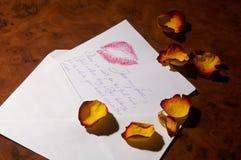 De brief van de liefde - Liebesbrief stock afbeelding