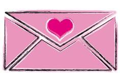 De Brief van de Liefde van de schets Royalty-vrije Stock Foto's