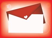 De brief van de Liefde van de valentijnskaart Stock Afbeelding