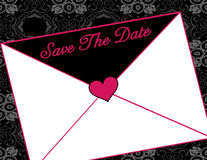 De brief van de uitnodiging Stock Fotografie