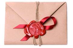 De brief van de valentijnskaart Royalty-vrije Stock Fotografie