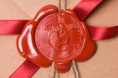 De brief van de valentijnskaart Stock Foto