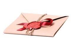 De brief van de valentijnskaart Royalty-vrije Stock Foto