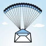De brief van de verkoop aan bevoorrading via parachutage Royalty-vrije Stock Fotografie