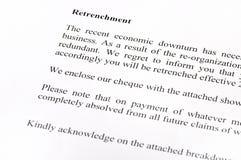 De Brief van de verschansing royalty-vrije stock foto