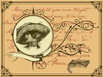 De brief van de weduwe Stock Fotografie