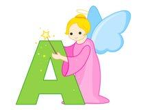 De brief A van het alfabet Stock Afbeeldingen