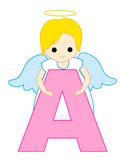 De brief A van het alfabet stock illustratie