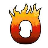 De brief van het Alfabet van vlammen - O stock illustratie