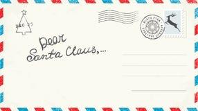 De Brief van Kerstmis aan Kerstman Royalty-vrije Stock Afbeelding