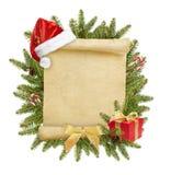 De brief van Kerstmis aan Kerstman Stock Foto